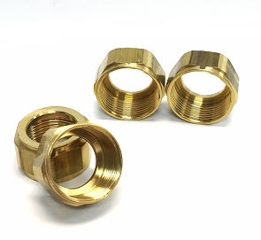Gage Glass Brass Nuts