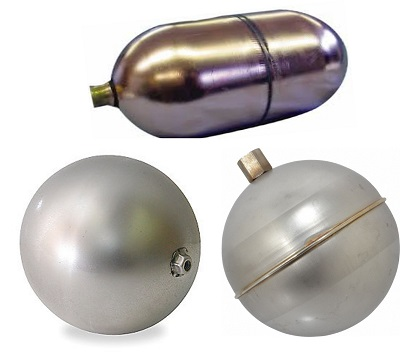 Stainless Steel Oblong & Round Floats