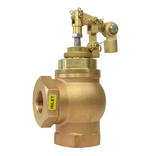 "Gadren Bronze Angle Float Valve Cold Water - ACF-VO"" Valve Only"""
