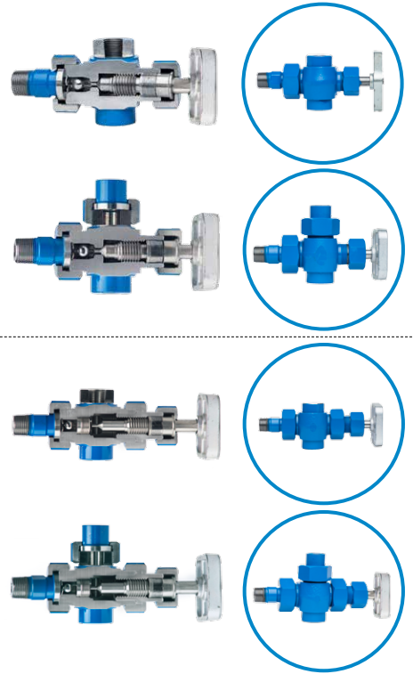 Kenco Flat Glass Gauge Valves for Transparent & Reflex Liquid Level  Units