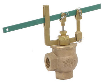 Keckley Bronze Self-Closing Lever Valve Angle Hot & Cold