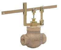 Keckley Bronze Self-Closing Lever Valve Globe Hot & Cold