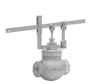Keckley Cast Stainless Steel Self-Closing Lever Valve Globe Hot & Cold